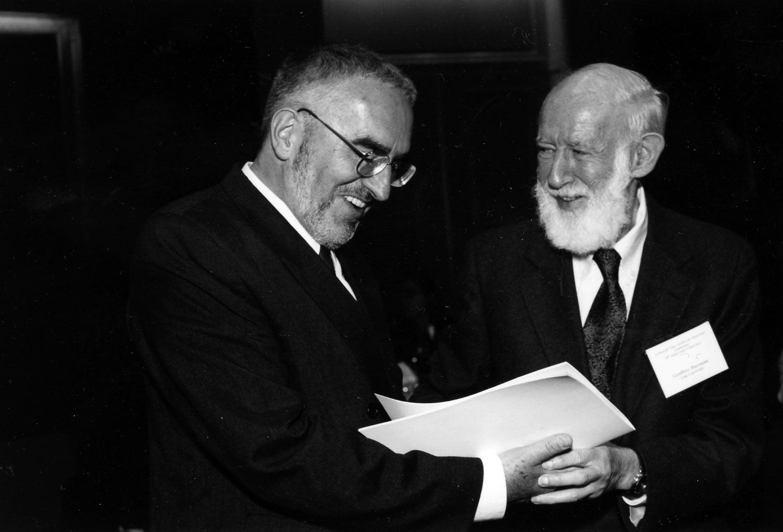 Professor Geoffrey Hartman and sociologist Martin Butora
