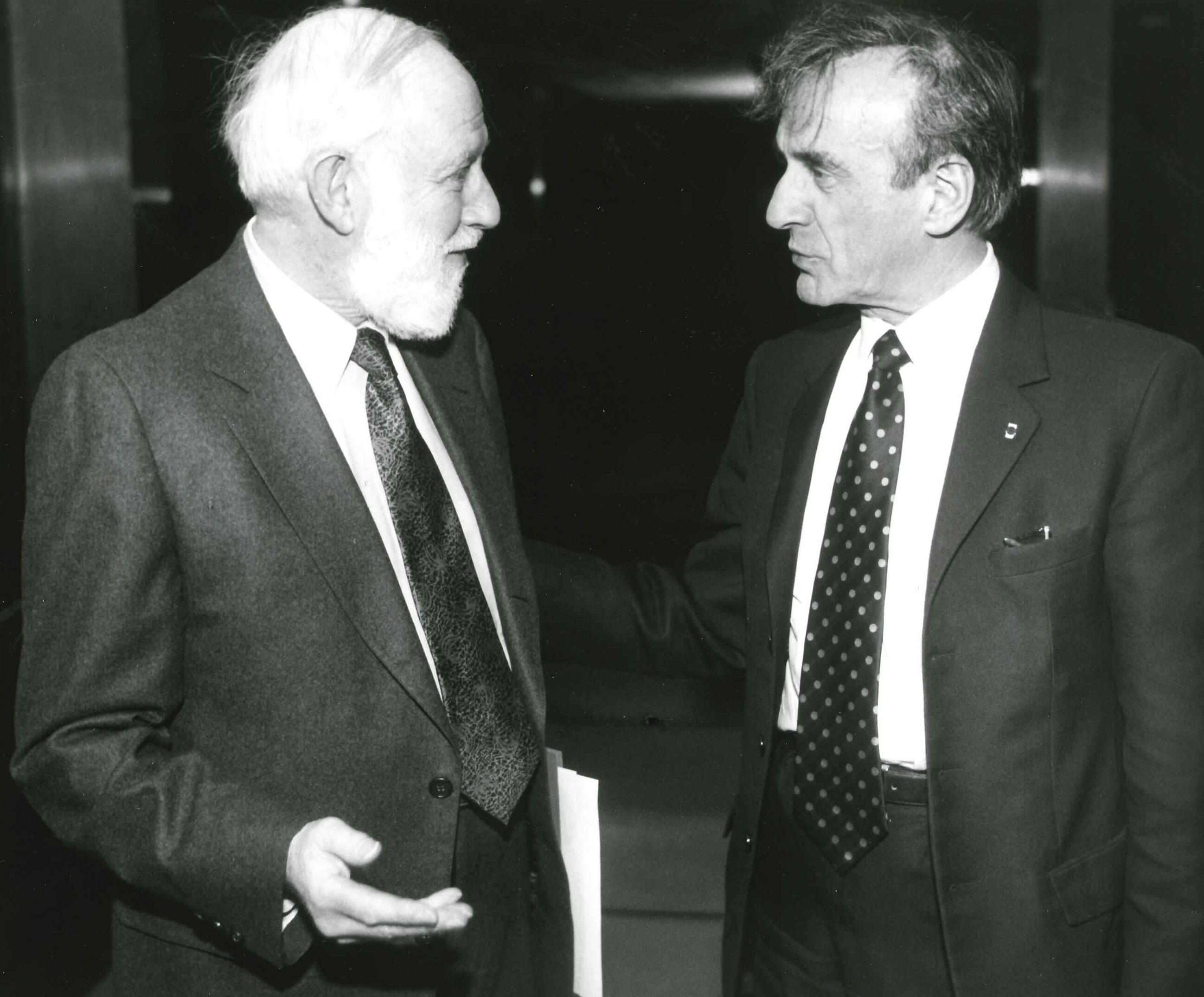 Professor Geoffrey Hartman and Elie Wiesel