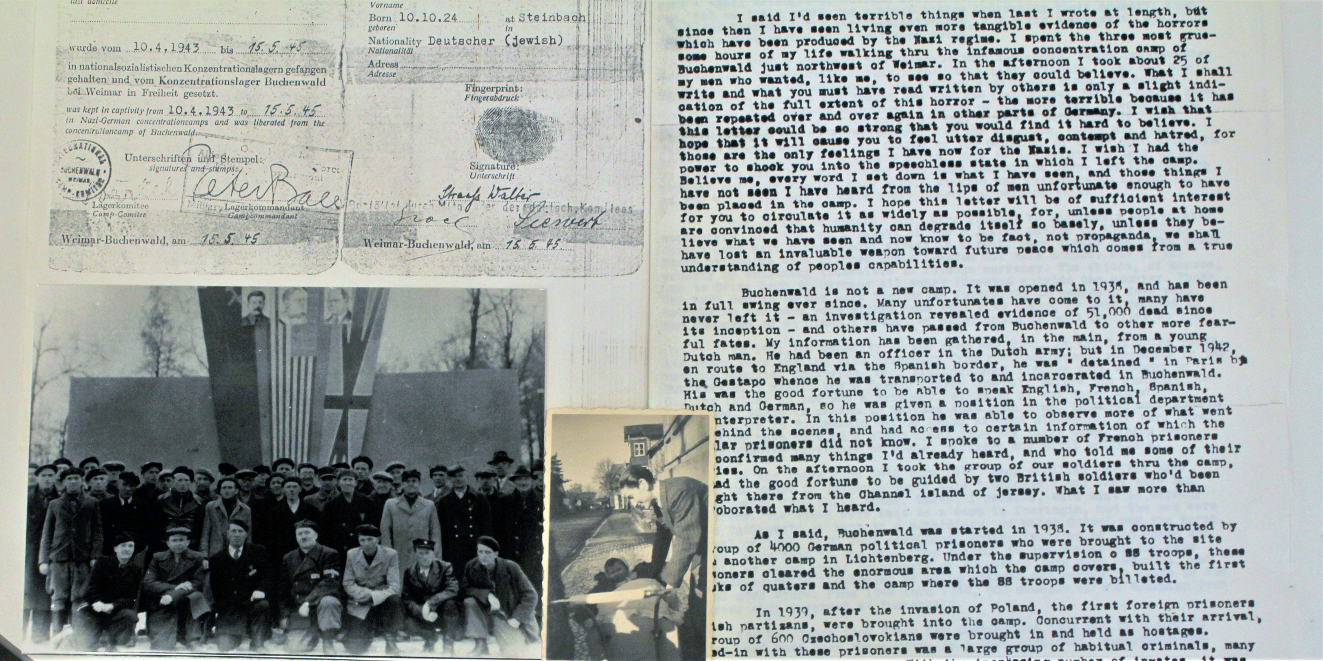 Documents from MS 1913, Fortunoff Video Archive for Holocaust Testimonies collection of related documents and ephemera