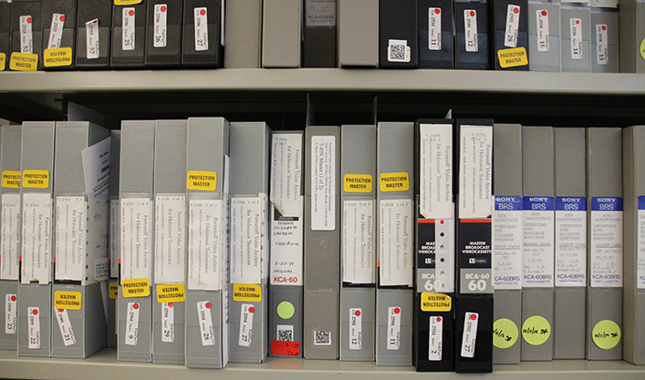 Master tapes of testimonies from the collection