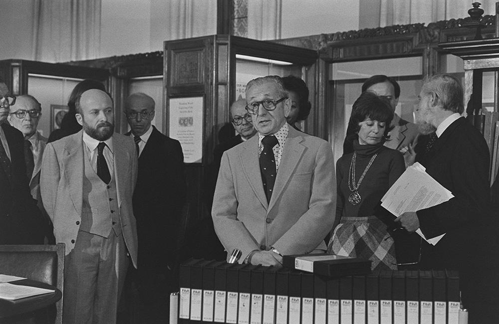 William Rosenberg, Dori Laub, and Laurel Vlock presenting the collection