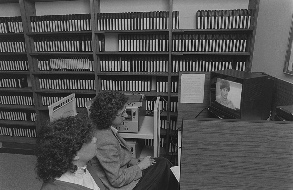 Viewing a testimony on a television set